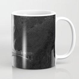 Multnomah Falls Oregon Waterfall Black and White Coffee Mug