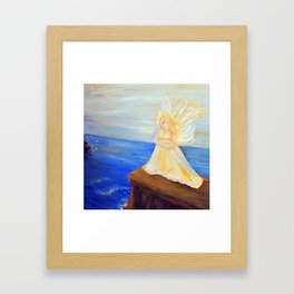 Invite your Angel | Angels are here Framed Art Print