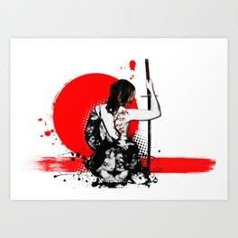 Trash Polka - Female Samurai Art Print