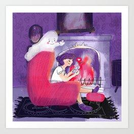 Spooky Date Art Print