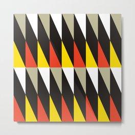 Geometric Pattern #187 (harlequin red yellow) Metal Print