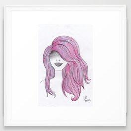 365 cabelos - pink Framed Art Print