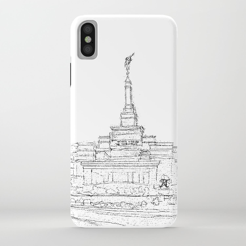 Reno Nevada Lds Temple Sketch Iphone Case By Bekablo Society6