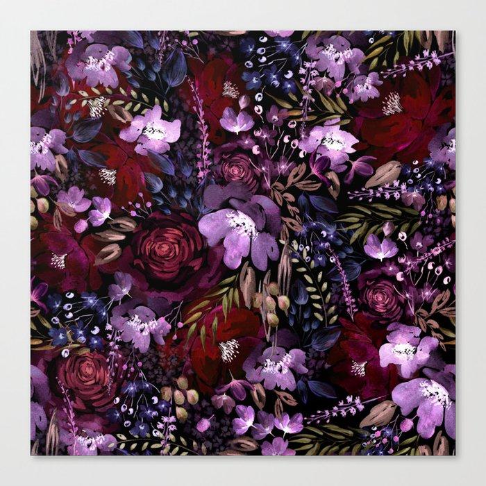 Deep Floral Chaos Canvas Print