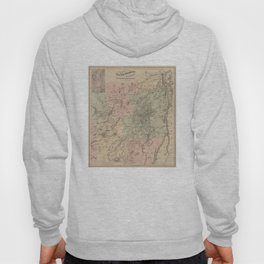 Vintage Map of The Adirondack Mountains (1879) Hoody