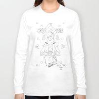 guns Long Sleeve T-shirts featuring Guns & Dollaz by Vingerverf Designs