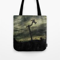 hunting Tote Bags featuring Hunting by Matthew Dunn