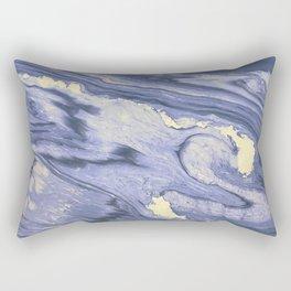 Lavender Marble With Cream Swirls Rectangular Pillow