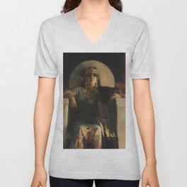 The Empress Theodora, Jean-Joseph Benjamin-Constant Unisex V-Neck