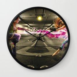 Turf Wars Wall Clock