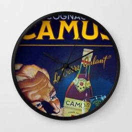 Vintage French Cognac Camus La Grand Marque Alcoholic Beverage Advertising Poster Wall Clock