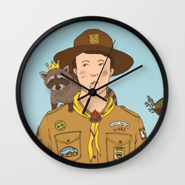 Scoutmaster Ward & King Racoon Wall Clock