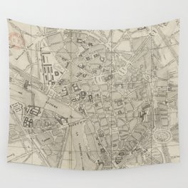 Vintage Map of Toulouse France (1844) Wall Tapestry