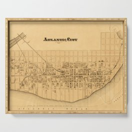 Map of Atlantic City 1877 Serving Tray