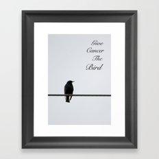 Give Cancer the Bird 2 Framed Art Print