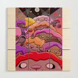 Sheep Party Wood Wall Art