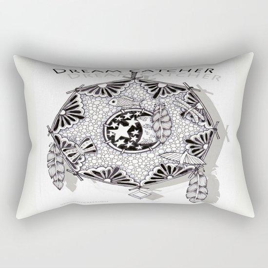 Zentangle Dreamcatcher Rectangular Pillow