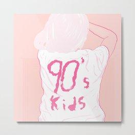 90's Kids Metal Print