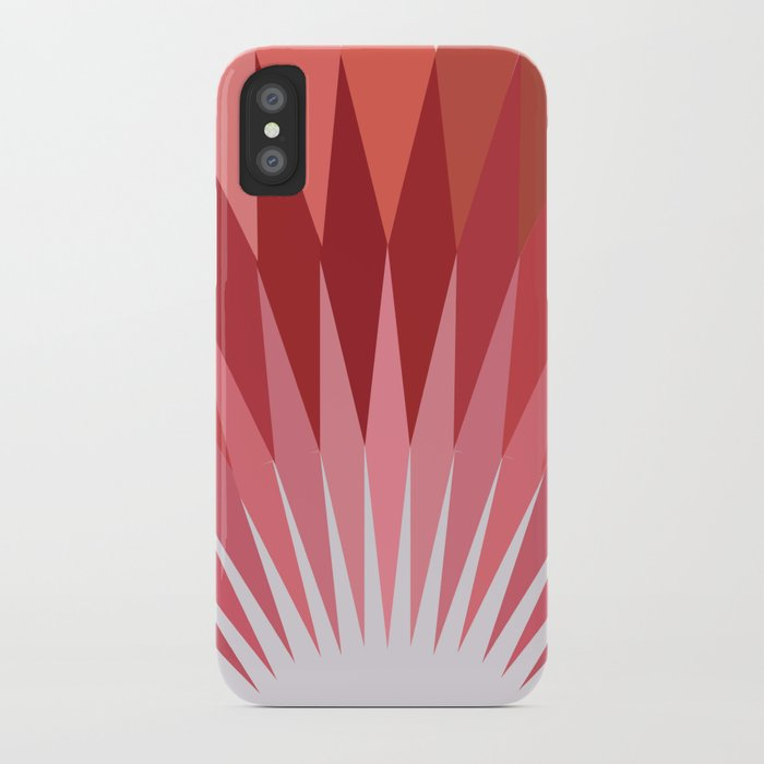 Geometrical Red And Brown Stardust iPhone Case