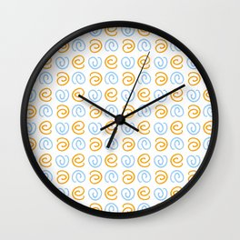 Spiral 4- Blue and orange Wall Clock