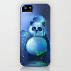 aqua panda iPhone (5, 5s) Slim Case