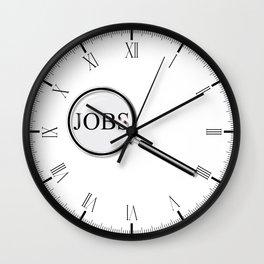 Jobs Magnifying Glass Wall Clock