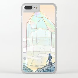 Giant Crystal 2 Clear iPhone Case