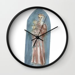 Saint Francis Wall Clock