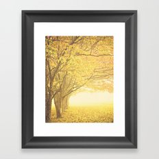 Gold season Framed Art Print
