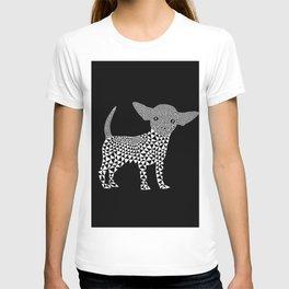 Chihuahua dog - black T-shirt