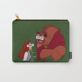 Keep Calm: Belle & Beast Carry-All Pouch