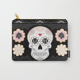 Sugar Skull Papel Picado - Day of the dead Carry-All Pouch
