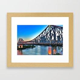 Brisbane has a Story Framed Art Print