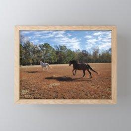 Horses on the Run Framed Mini Art Print