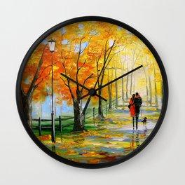 Golden autumn Wall Clock