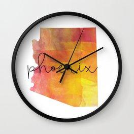 Watercolor Phoenix Arizona Wall Clock