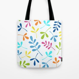 Multicolored Assorted Leaf Silhouettes Tote Bag