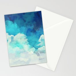 Absract Watercolor Clouds Stationery Cards