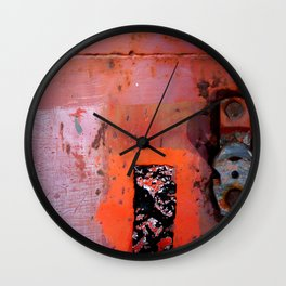 red shades on rust Wall Clock