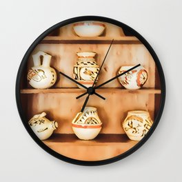 Indian Cupboard - Graphic 3 Wall Clock