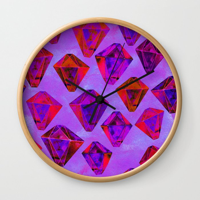 Fairy gems Wall Clock
