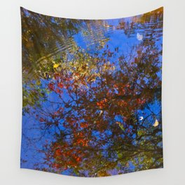 Rippled Water and Leaves 1 Wall Tapestry