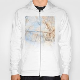 Cotton Latte Marble - Ombre blue and ivory Hoody