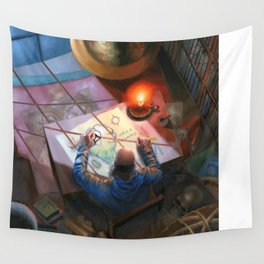 The Mapmaker  Wall Tapestry