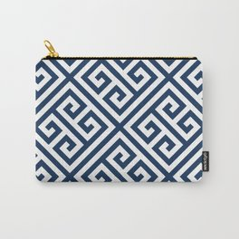 Greek Key Navy Carry-All Pouch