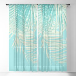 Palm Leaves Summer Vibes #4 #tropical #decor #art #society6 Sheer Curtain