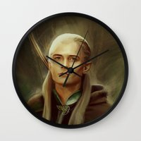 legolas Wall Clocks featuring Legolas by taryndraws2