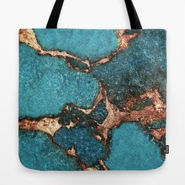GEMSTONE  & GOLD AQUA Tote Bag