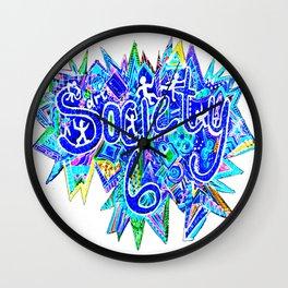 S6 TEE Aqua Blue surf Zentangle Wall Clock