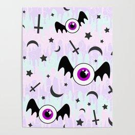 Pastel Melt Winged Eyes Poster